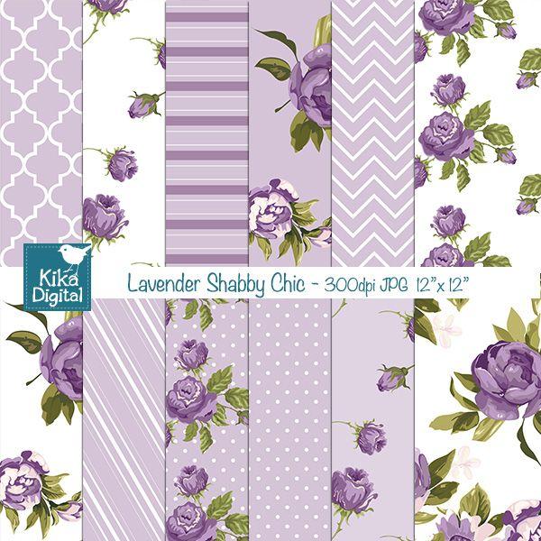 Miraculous Lavender Shabby Chic Digital Papers Digital Scrapbook Beutiful Home Inspiration Xortanetmahrainfo