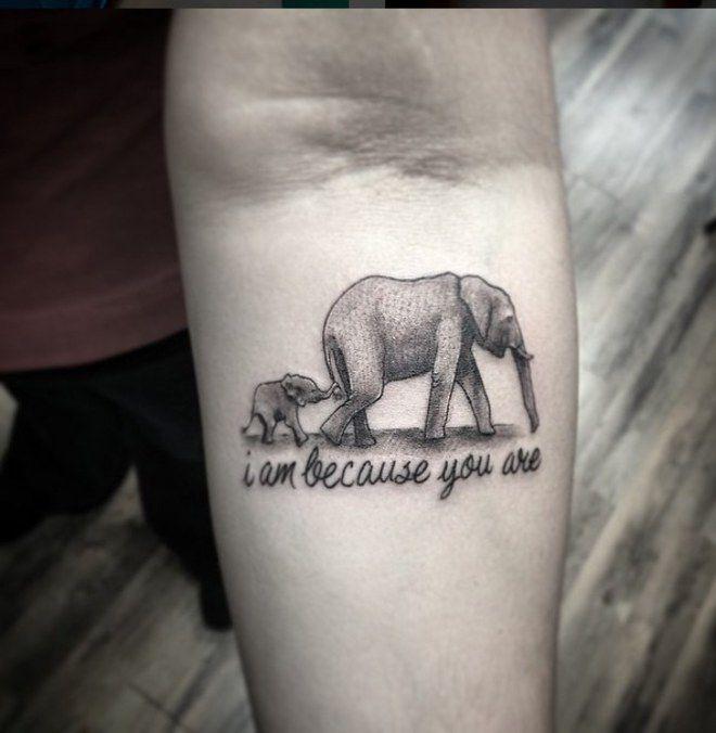 Super Tatouage mère enfant éléphant | Tattoo à faire | Pinterest  QG62