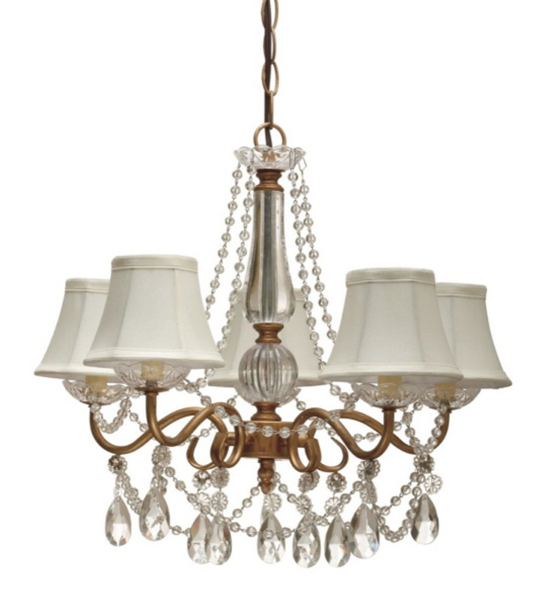 Chandelier Lamp Shades Beaded Kronleuchter Mit Lampenschirm