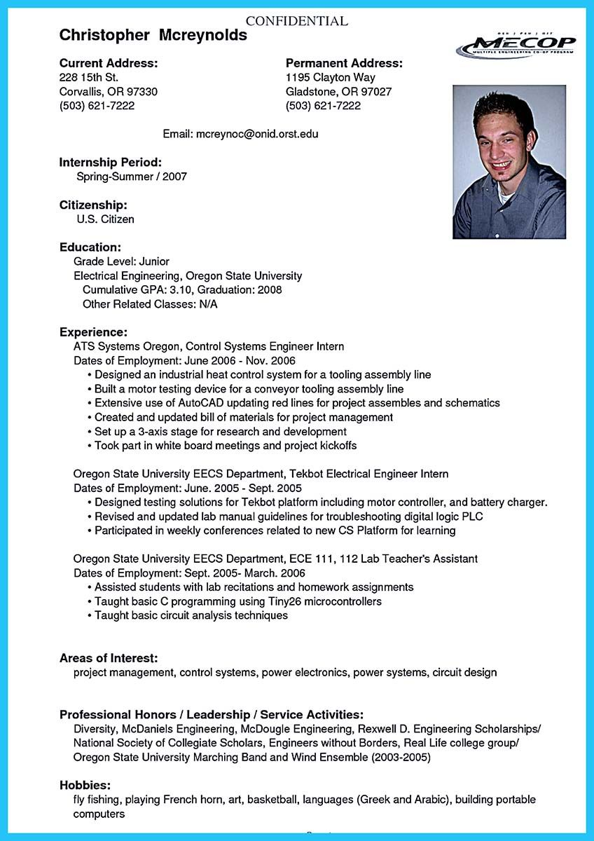 college student resume career objective