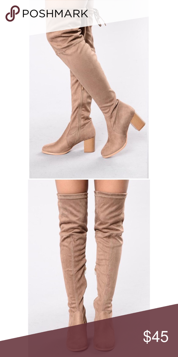 77c7c078534 Fashion nova suede over the knee boot Brand new fashionnova over the knee  beige suede boot