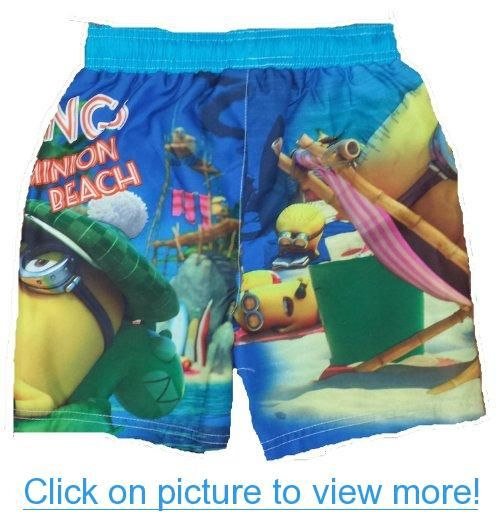 dd906c8014 Despicable Me 2 Greetings From Minion Beach Boys Swim Trunks ...