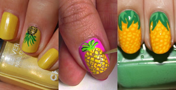pineapple nail art - Pineapple Nail Art Trendy Nail Art Pinterest Pineapple Nails