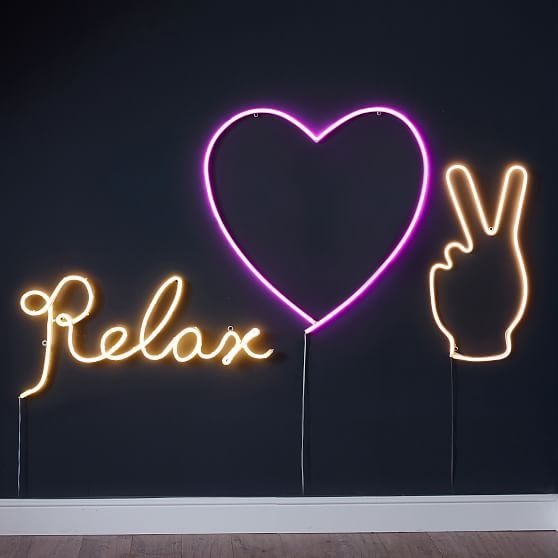 Peace Hand Wall Light Heart Wall Wall Lights Neon