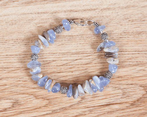 Chalcedoney, Hill Tribe and Sterling Silver Necklace - colors delicate as lace - Mom will love it!  20% off - http://www.earthwhorls.com/product/chalcedony-hilltribe-silver-sterling-silver-bracelet/
