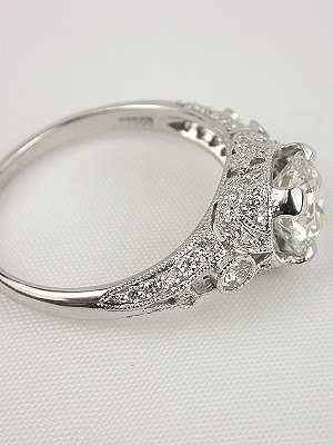 edwardian inspired diamond engagement ring rg 2532 - Victorian Wedding Rings