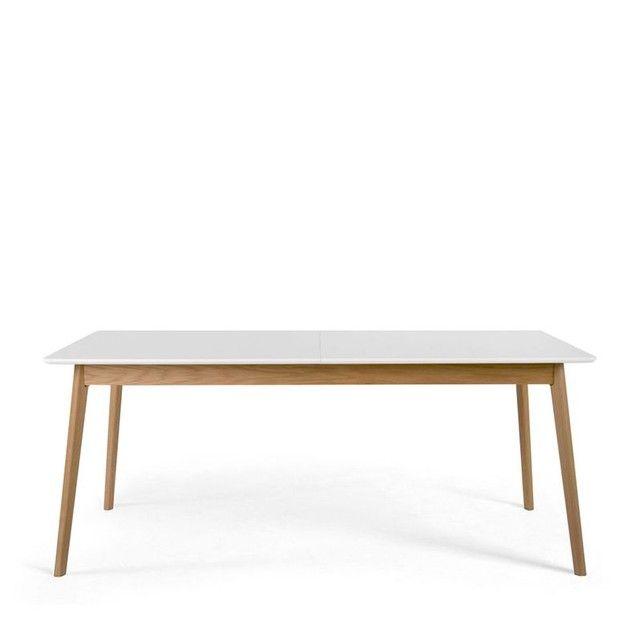 table à manger extensible 180-230x80cm skoll | mobillier