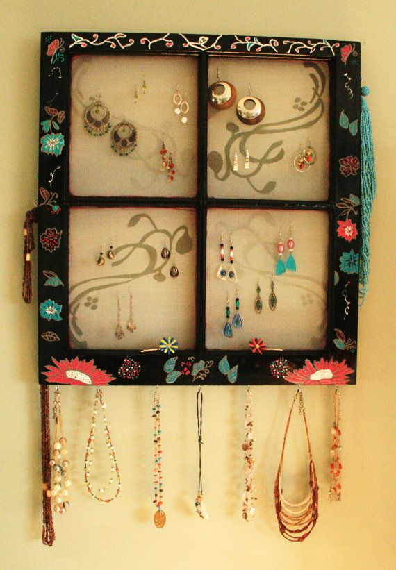 Jewelry Organizer Window frames Messages and Display
