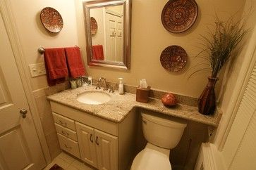 Counter Over Toilet Needed Tile Wainscoting Behind Toilet To
