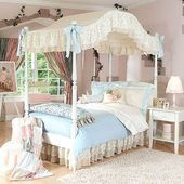 Photo of Chloe Blue Floral Bedding Canopies & Accessories#accessories #bedding #blue #can…