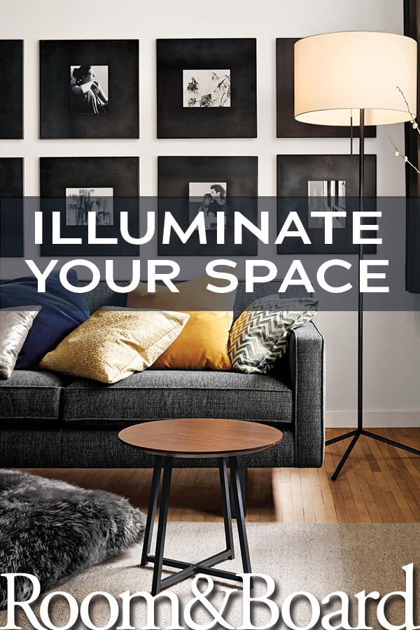 Illuminate your living space with a modern floor lamp