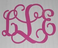 """Wall Door Monogram Painted 15"""" Size Personalized Wooden Wedding Decor Child"""