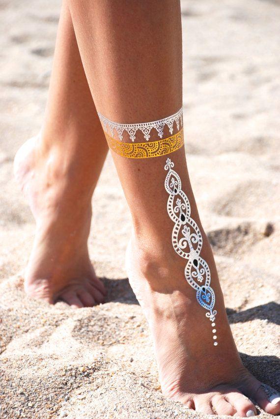 Henna Tattoo Ink Smeared: Sheeba Flash Ink Tattoo Gold Tattoo Silver Tattoo By