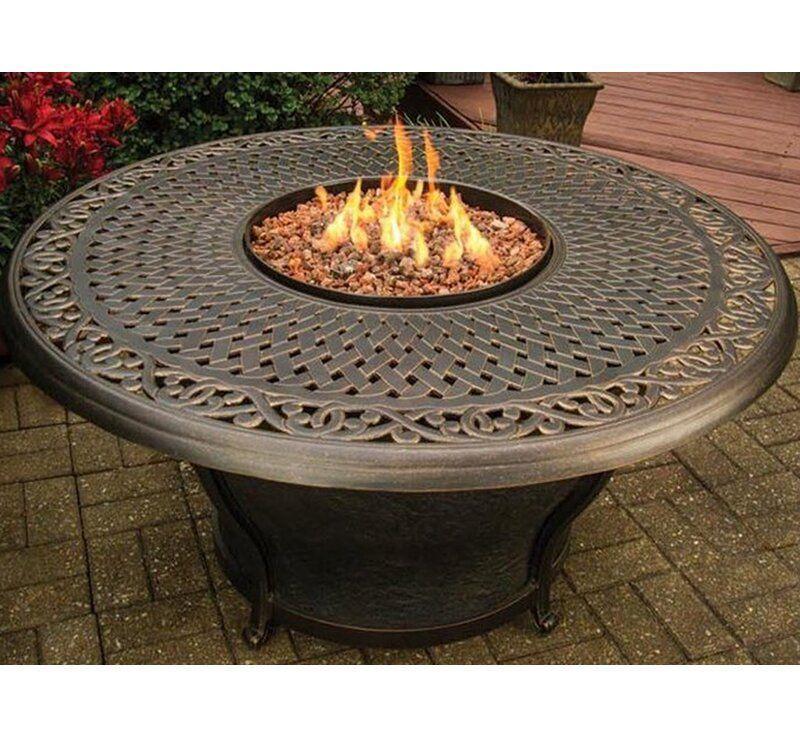 Fleur De Lis Living Stoffel Aluminum Propane Natural Gas Fire Pit Table Reviews Wayfair Aluminum Fire In 2020 Gas Feuerstelle Feuertisch Feuerstellen Im Freien