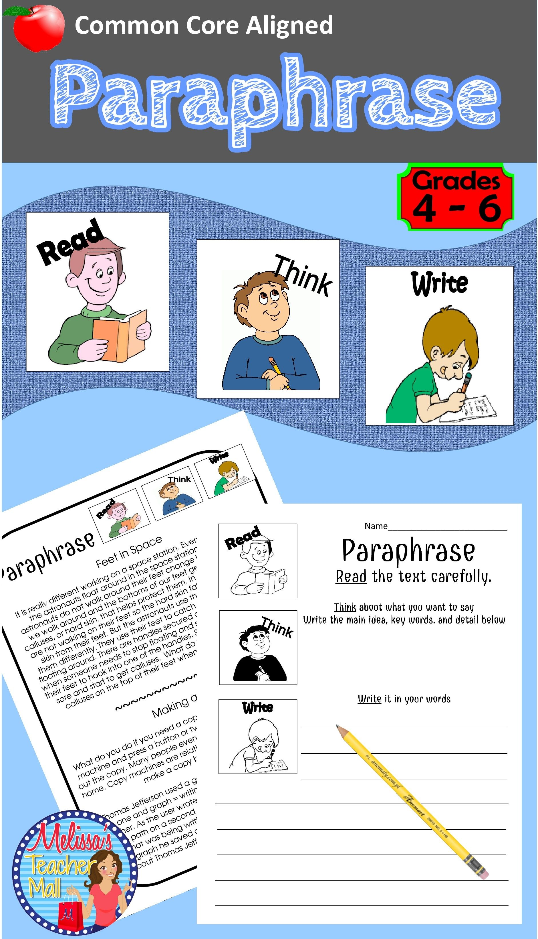 Paraphrase Here I Some Help With The Really Hard Concept Of Paraphrasing Nonfiction Take A Look At Thi Activitie 4th Grade Reading Plagiarism Proper