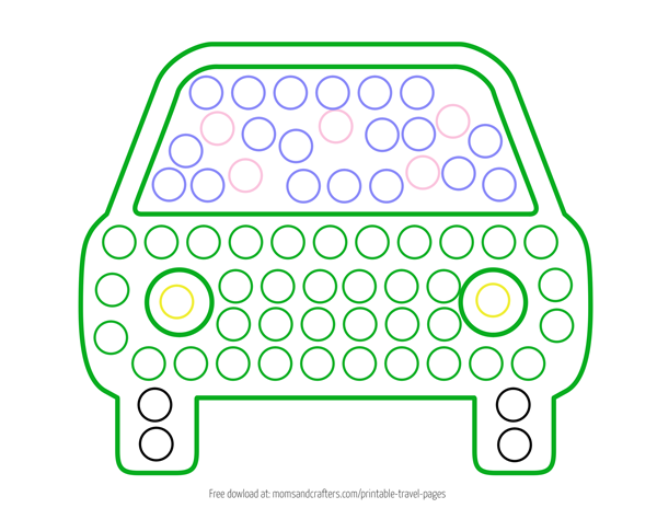 photograph relating to Printable Bingo Markers identify Printable Generate Sheets for Mini Do a Dot Transport