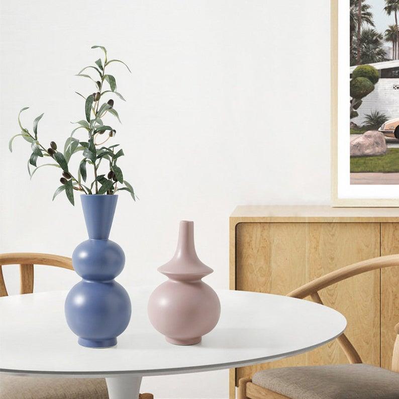 New Modern Minimalist Vase, Nordic Home Decor, Handmade ...