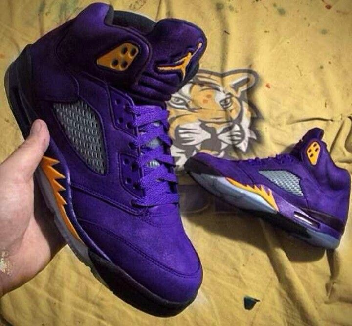 newest 93f6d 254d2 LSU 5's or Lakers sick either way. | B-BOYing | Jordans ...
