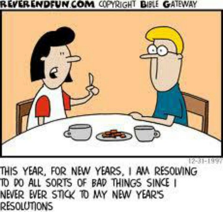New Year S Resolutions Christian Cartoons New Year S Eve Jokes Funny New Year