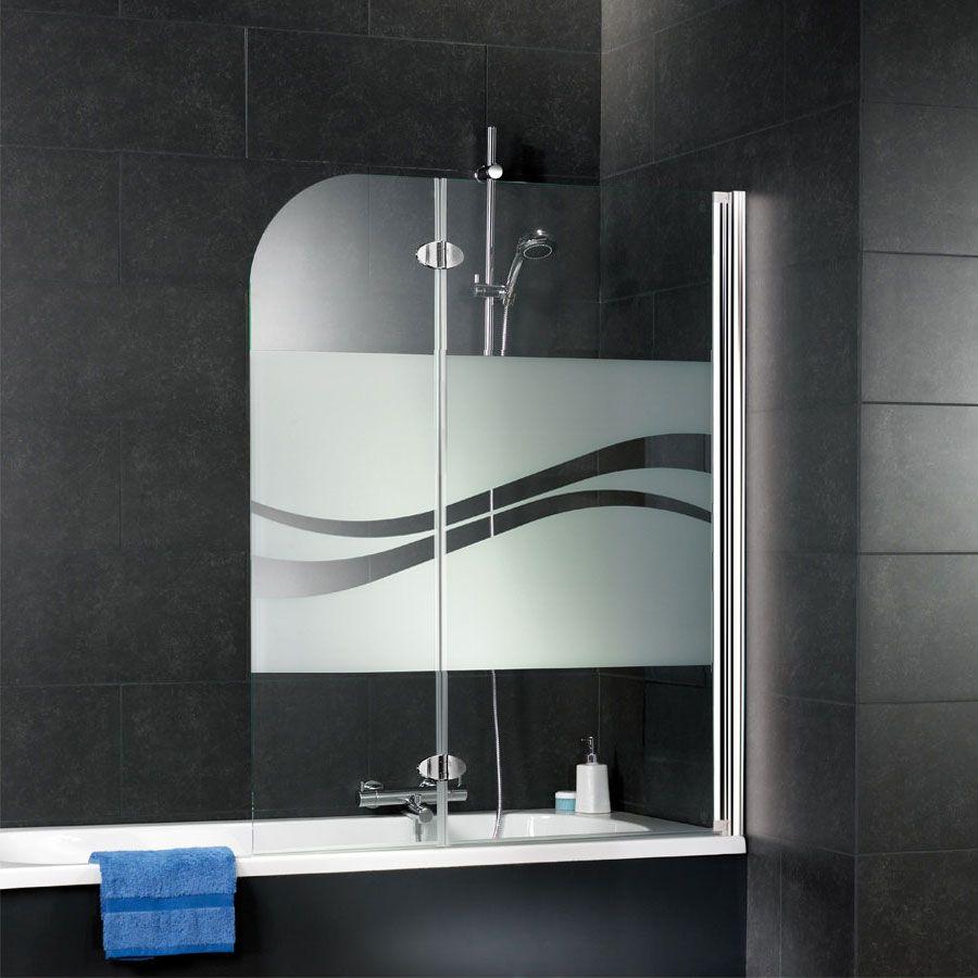 Duschmeister 303 Badewannenaufsatz 2 Teilig Dekor Liane D3353 Duschmeister De In 2020 Duschwand Wand Duschkabine Glas