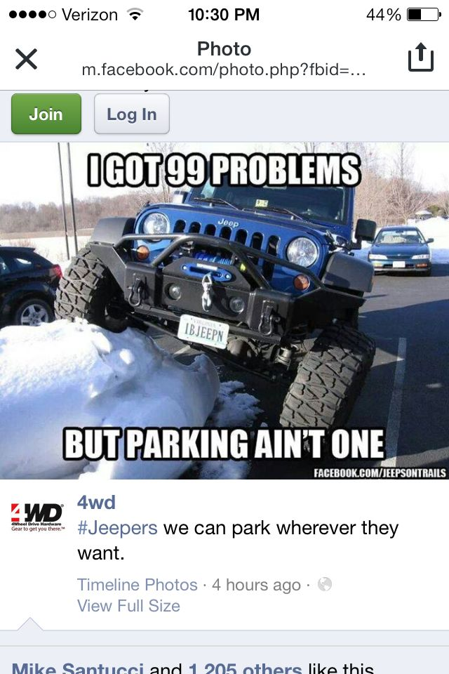 Haha This Was Us On Thursday With The Snow Went To Home Depot Lee Was Plowing Over Every Mound Of Snow Like This He Could Find In Jeep Memes Jeep