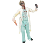 Zombie Doctor Costume, White and Green - This is a terrifying zombie costume, perfect for Halloween fancy dress events!