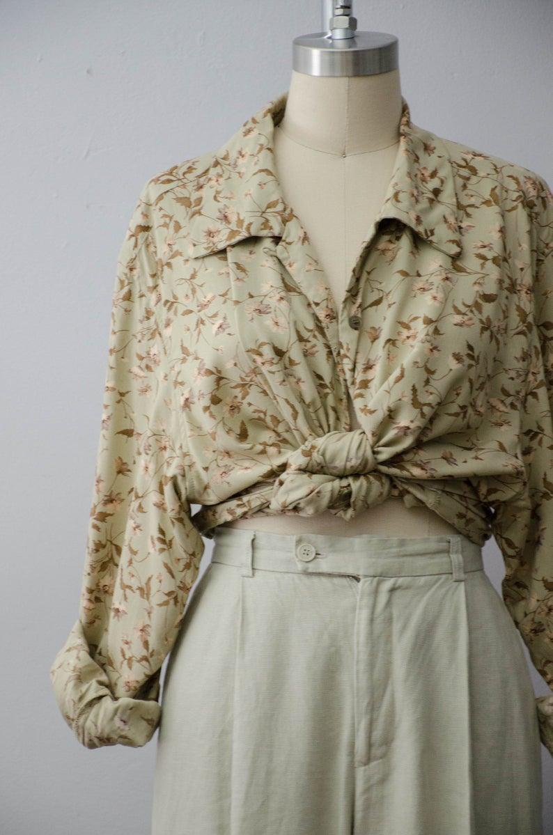 Photo of long sleeve blouse | floral blouse | plus size blouse