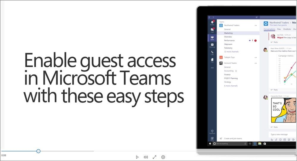 Microsoft Teams closes in on Slack by adding guest