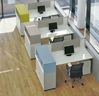 Separate Workstations With Storage For Each Office Cabin Design Small Office Design Office Cubicle Design