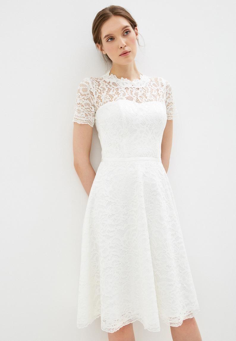 Short Wedding Dress Knee Length Gown Boho Wedding Dress Simple Etsy Wedding Dress For Short Women Short Wedding Dress Knee Length Wedding Dress [ 1146 x 794 Pixel ]