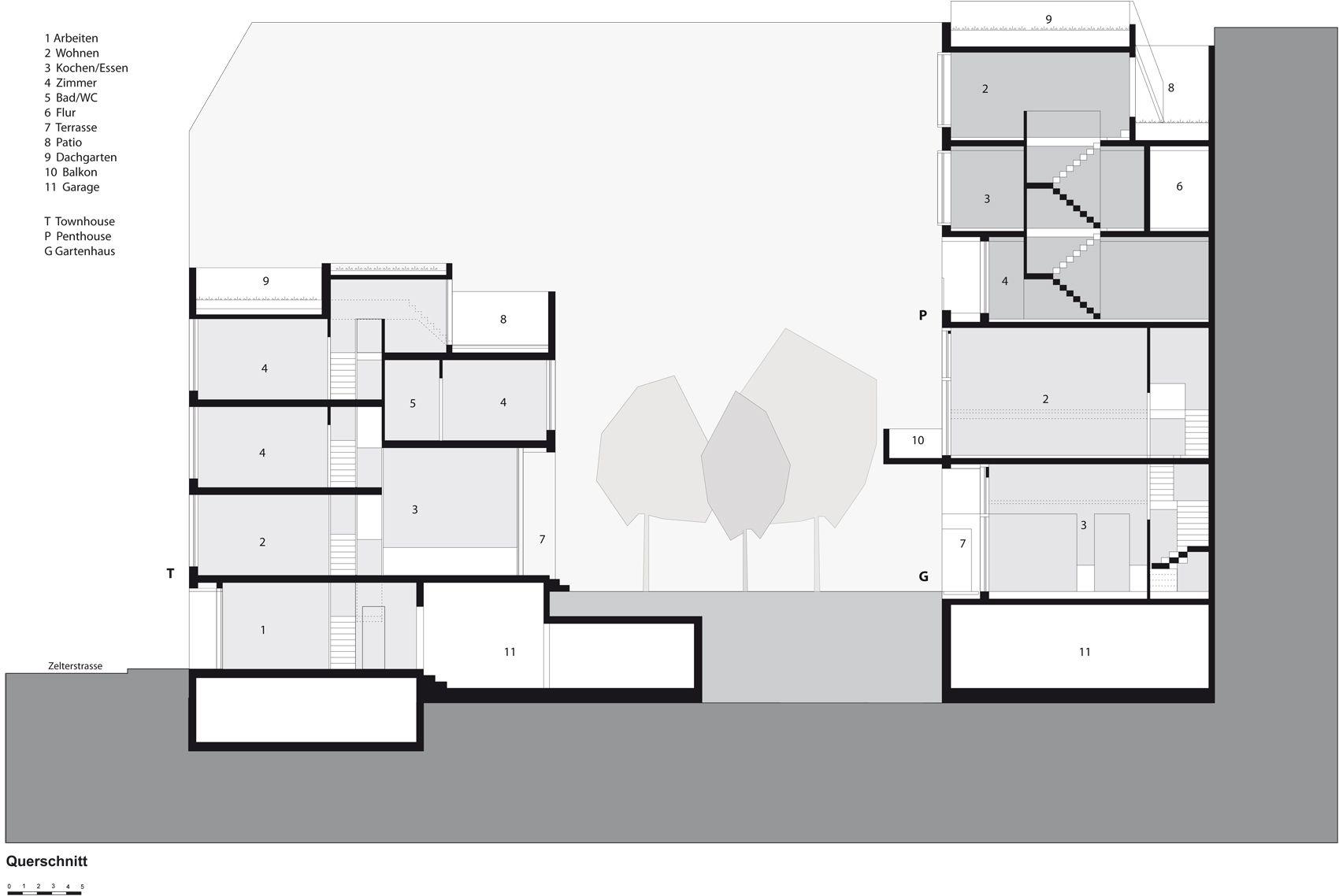 Zanderroth berlin schnitt ze05 80m wohnen pinterest for Entwurf architektur
