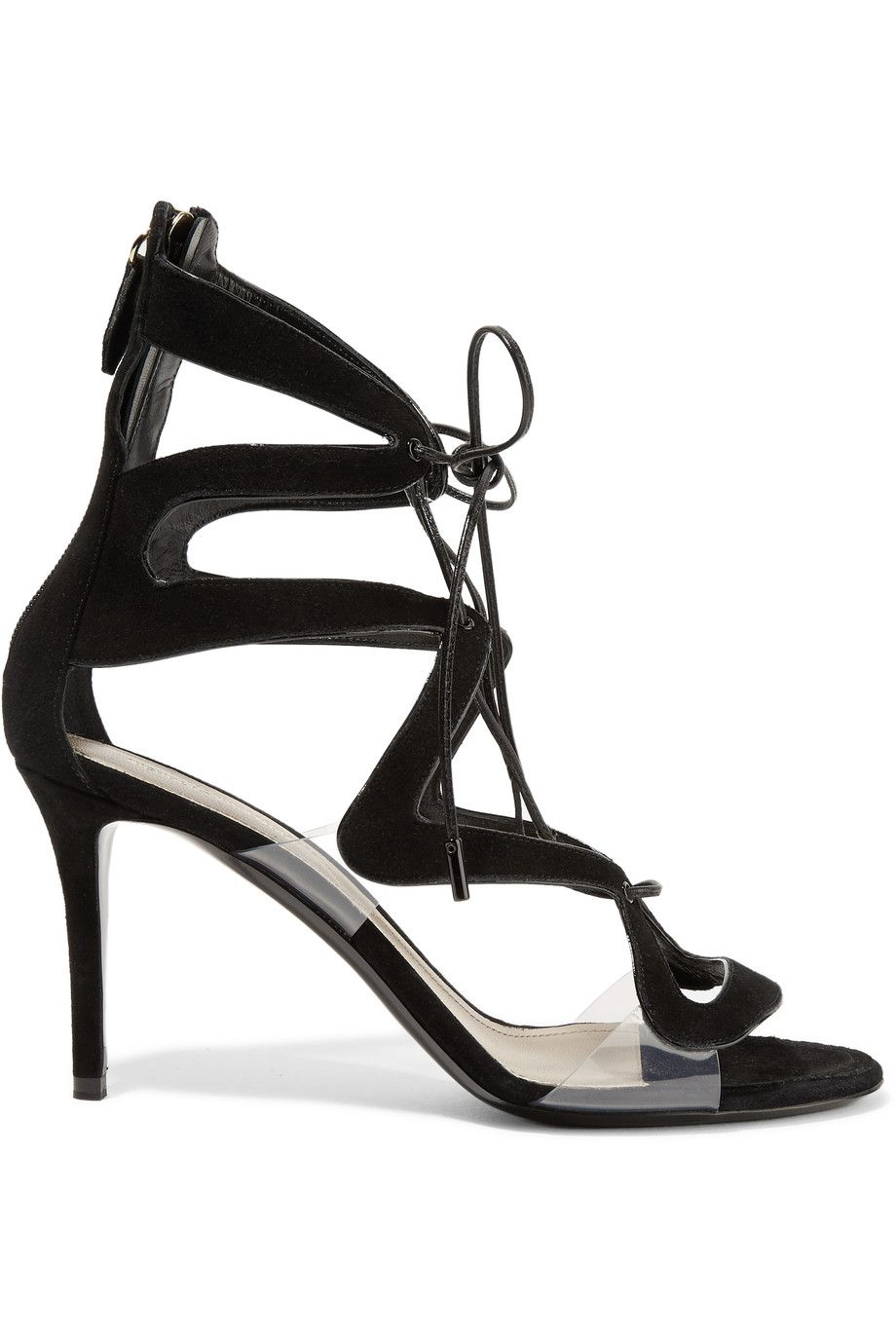 NICHOLAS KIRKWOOD Serafin Pvc-Trimmed Suede Sandals. #nicholaskirkwood #shoes #sandals