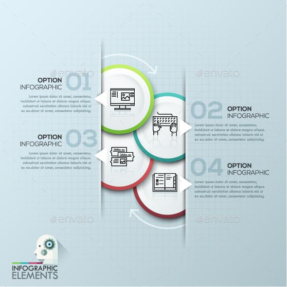 Modern Infographic Circle Template Ai illustrator, Infographic - circle template