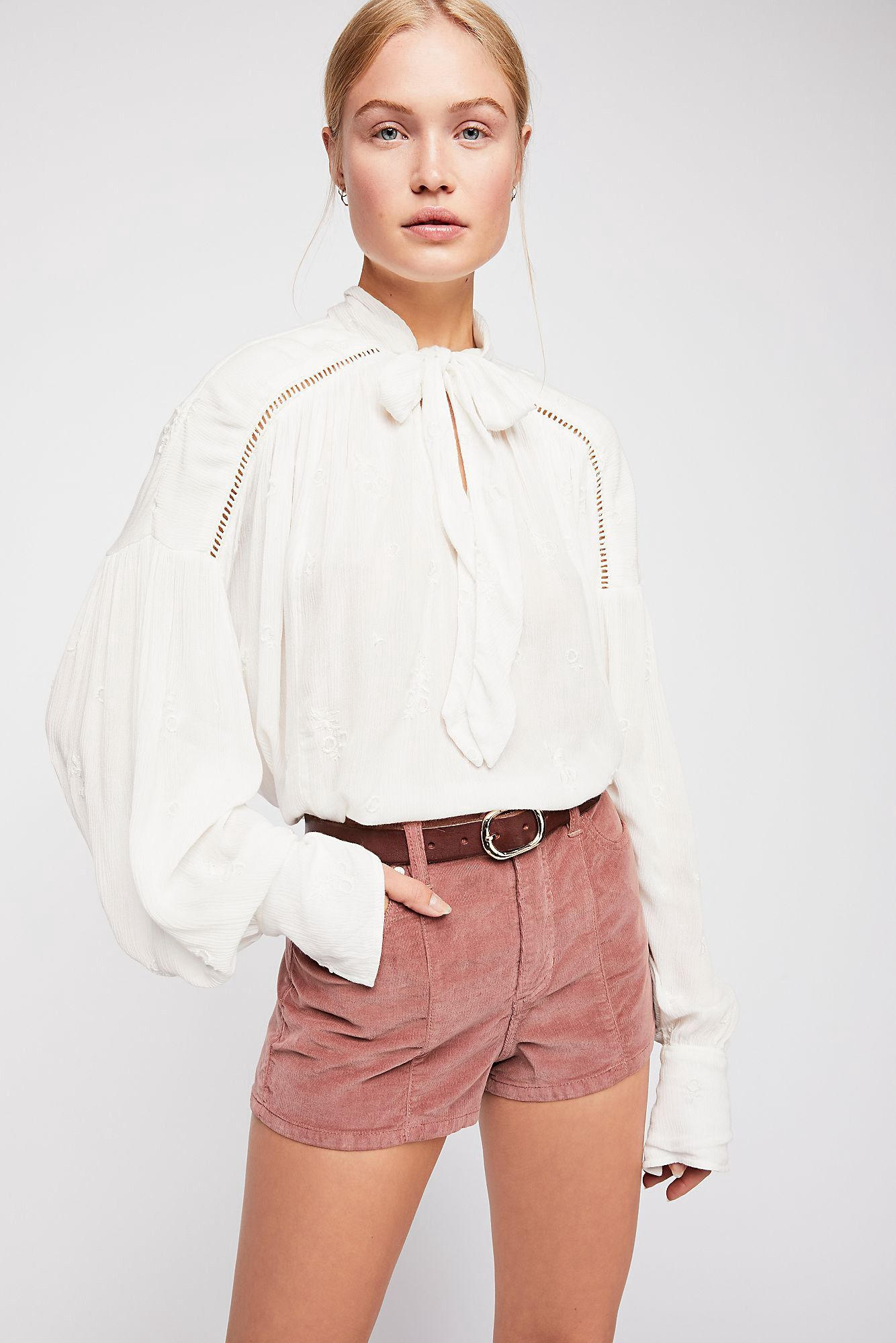 9c08f1675c01cc Free People Wishful Moments Blouse - L   Products   Blouse, Fancy ...
