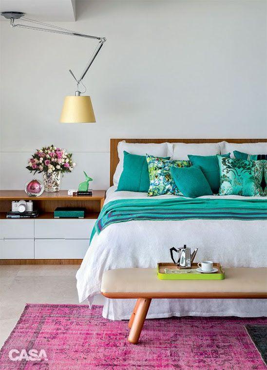 Cores na decora o 1 verde gua deco pinterest for Dormitorio verde agua