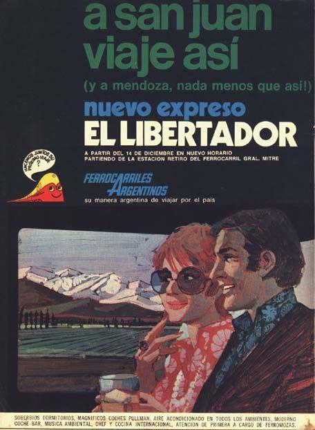Resultado de imagen para ferrocarriles argentinos publicidades imagenes