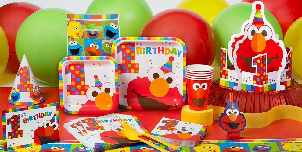 Elmo 1st Birthday Party Supplies Party City 1st Birthday
