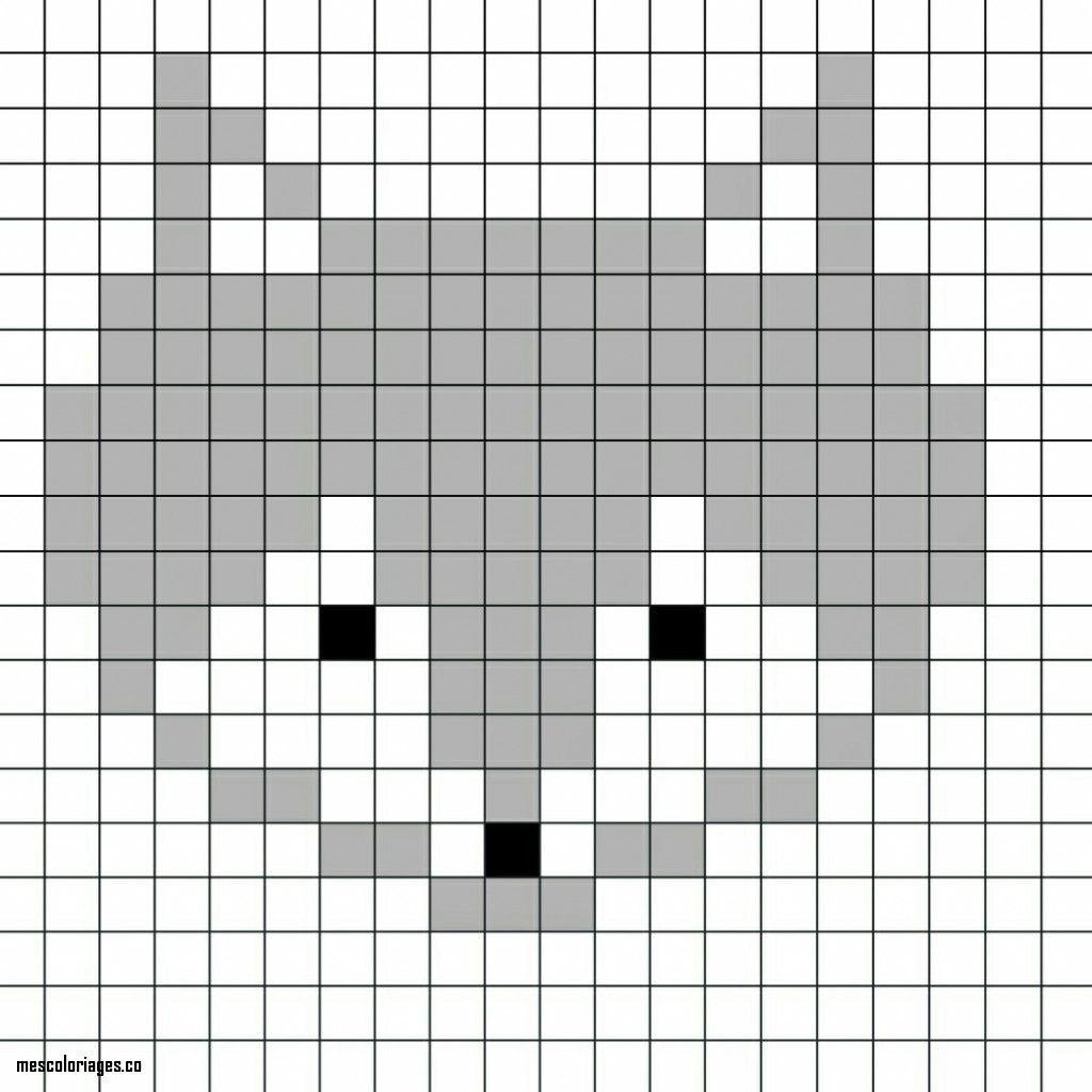 Coloriage Pixel Art A Imprimer Coloriage Pixel Art A Imprimer L