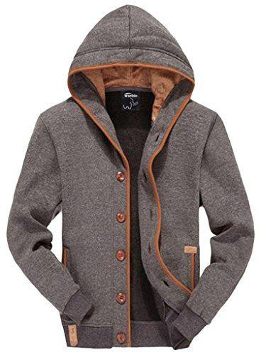 Wantdo Men's Single Breasted Jacket US Large Grey