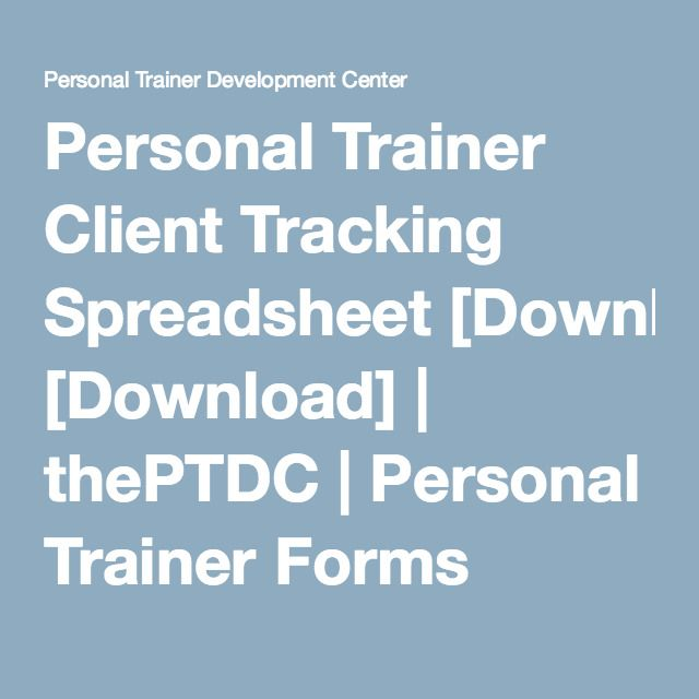 Personal Trainer Client Tracking Spreadsheet [Download] | PT Biz ...
