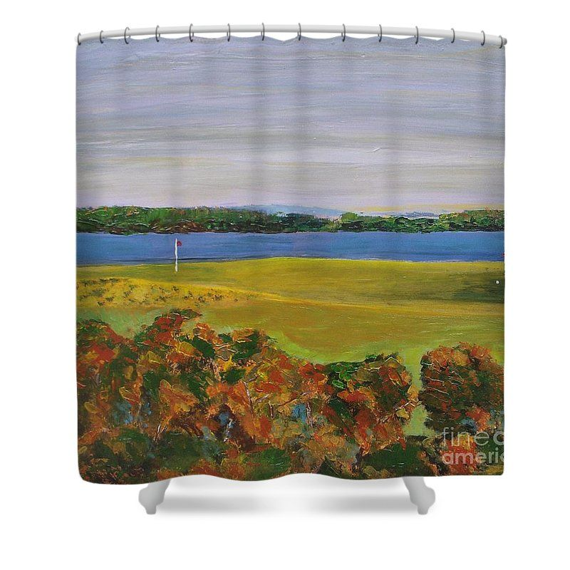 Golf Course Shower Curtain For Sale By Vesna Antic Curtains