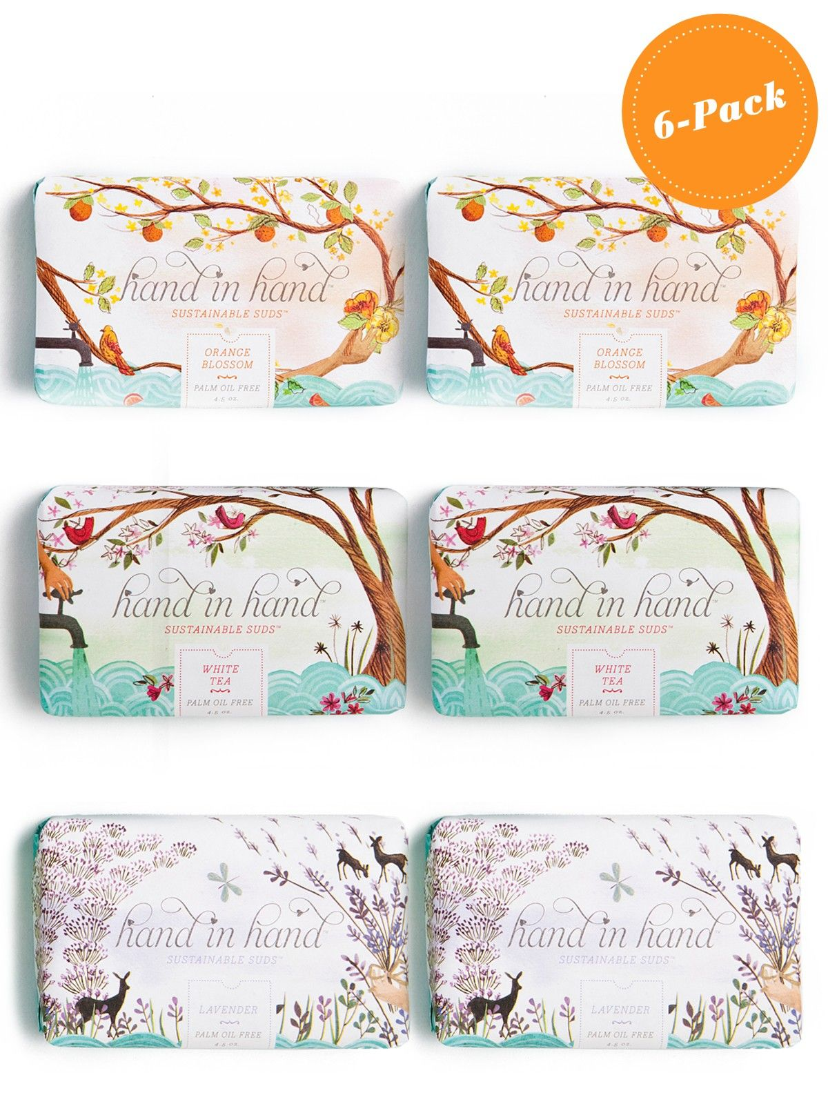 Refinery29 Shops: Hand In Hand - 6-Soap Set