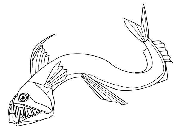Angler Fish Deep Sea Colouring Pages