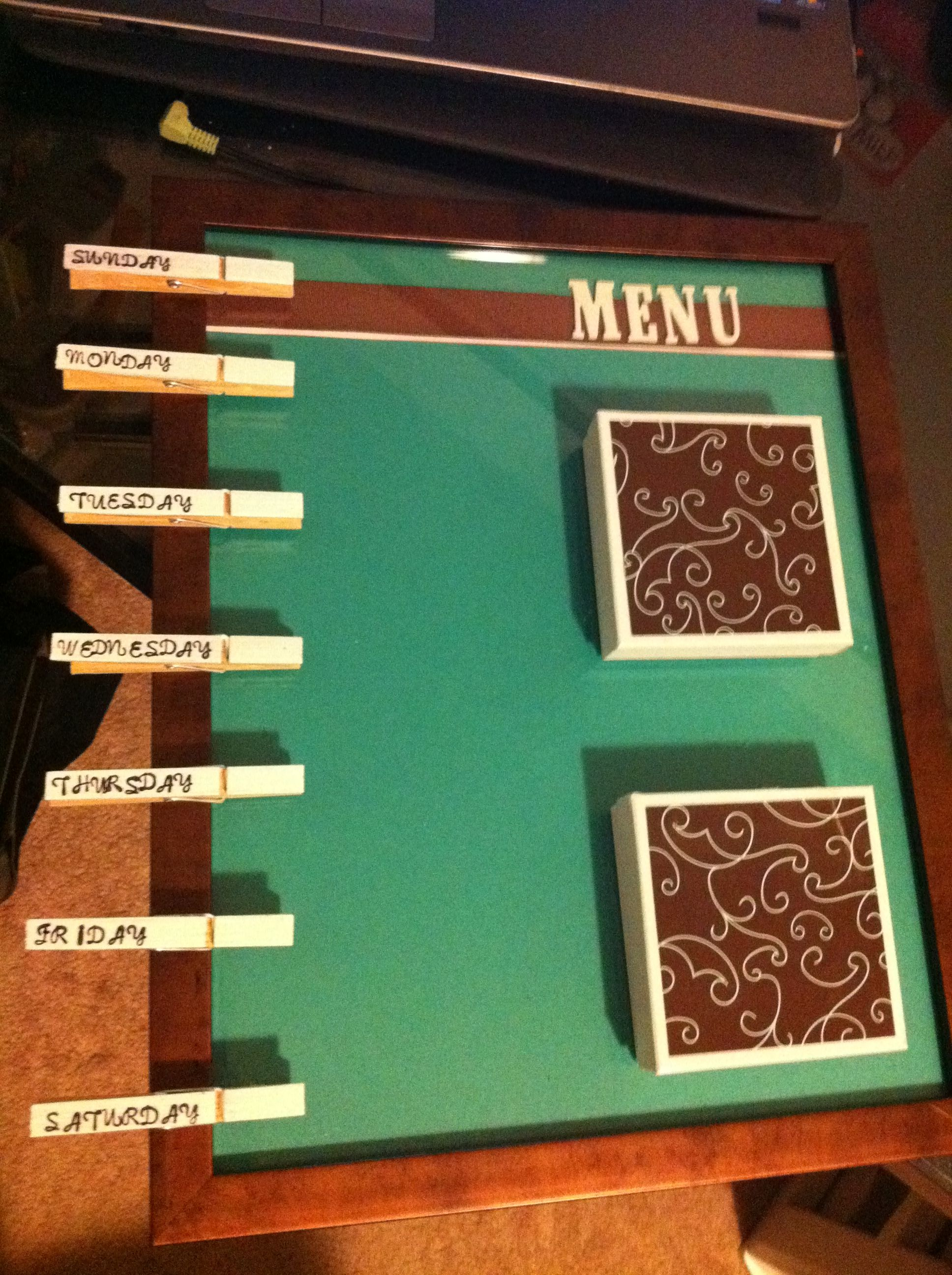 menu board organizing meal planning do it yourself projects recipe organization on do it yourself kitchen organization id=23772