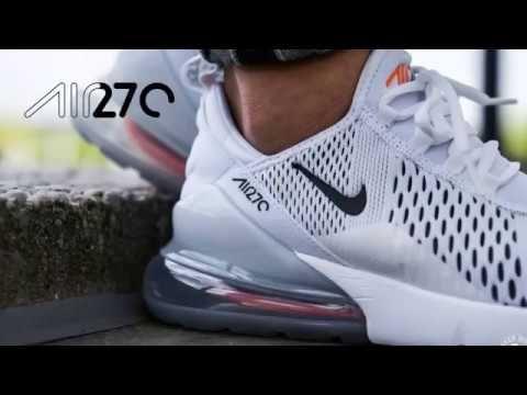 744c22f18c NIKE Air Max 270 Mens AH8050 106 White Orange | Nike | Nike air max ...
