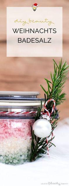 Geschenkidee: DIY Weihnachts-Badesalz #bastelideenweihnachten