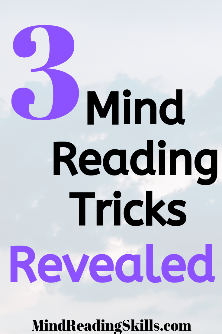 3 Amazing Mind Reading Tricks Revealed Mind Reading Tricks Mind Over Matter Quotes Mindfulness