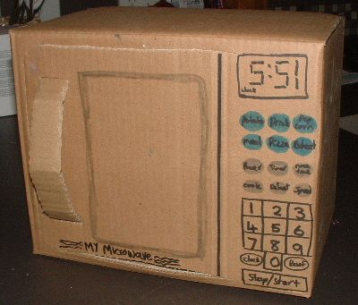 Cardboard Microwave Clever Amp Creative Ideas Crafts Pinterest Toys Plays And Toy Kitchen