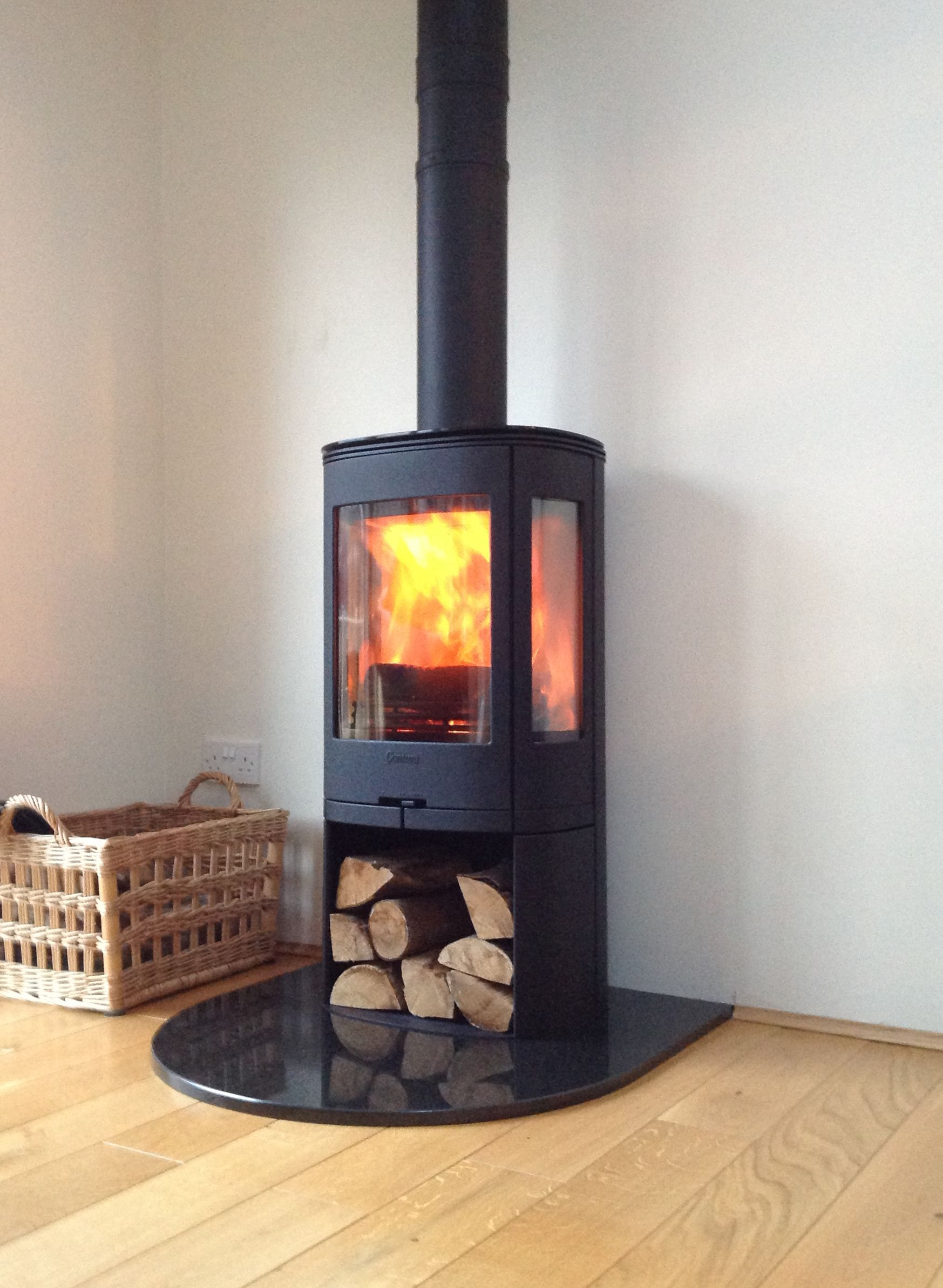 Free Standing Contura Wood Burning Contemporary Stove Supplied By