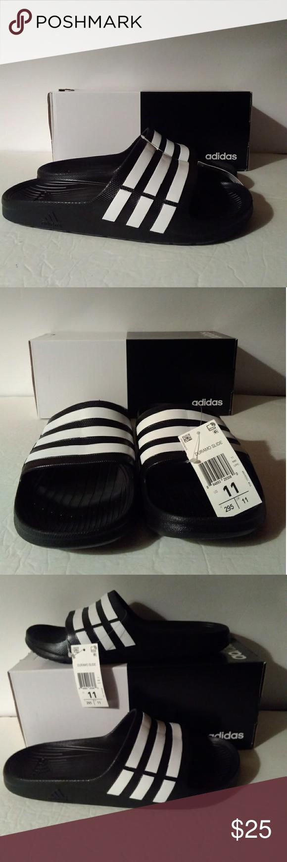 the latest 421c9 309ac Adidas Duramo Slide Sandals - BlackWhite Men 11 Adidas Duramo Slide Sandals  - BlackWhite Shower Sandals Men Size 11 adidas Shoes Sandals  Flip-Flops